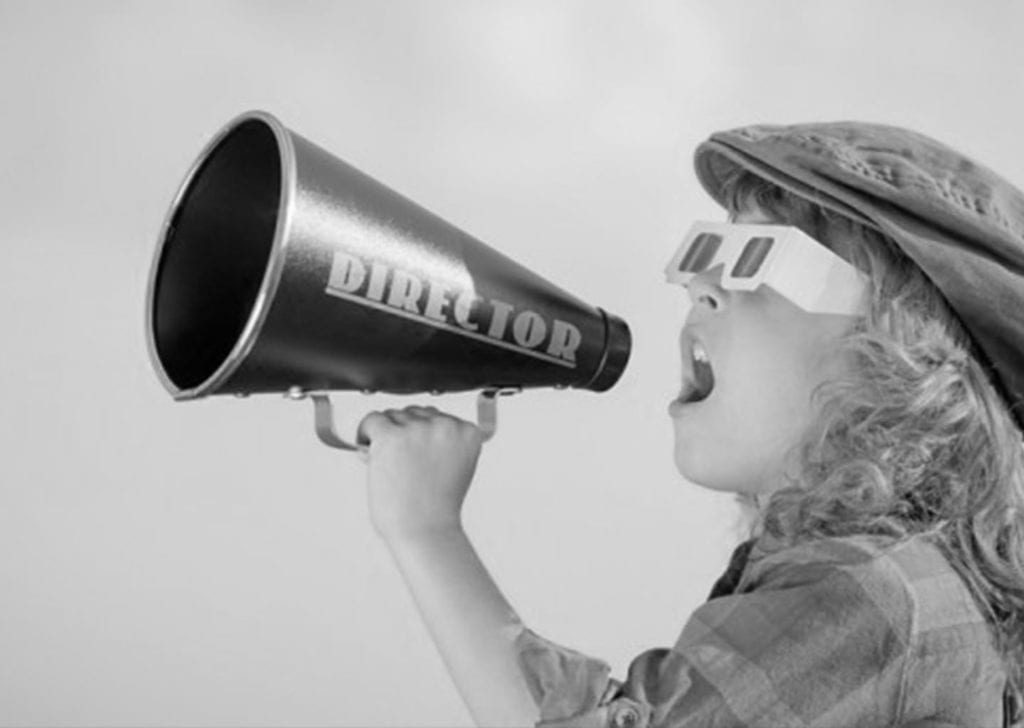 image of child shouting into a megaphone