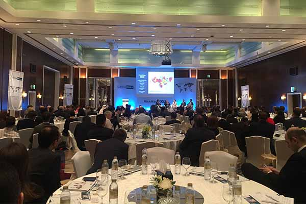 Control Risks - Image of dubai speaker event with stage