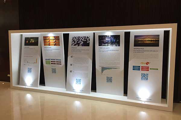Control Risks - Image of event display in emirates towers dubai