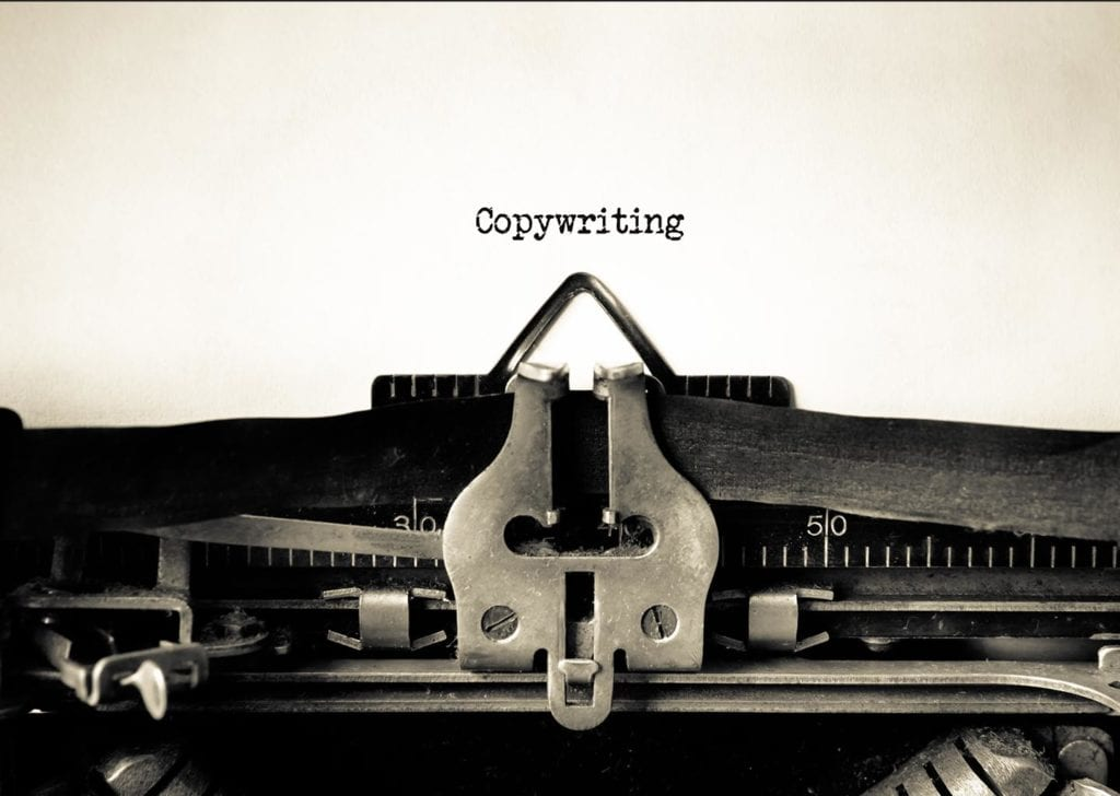 Copywriting - an image of a typewriter for content creation