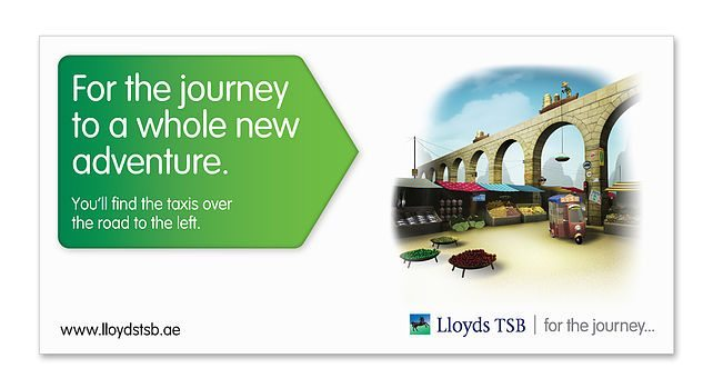 Lloyds TSB - image of outdoor advertising for financial bank dubai