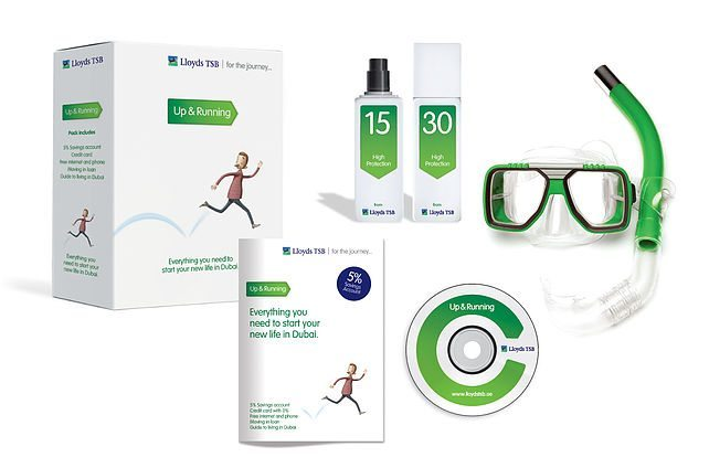 image of welcome pack for lloyds banking dubai