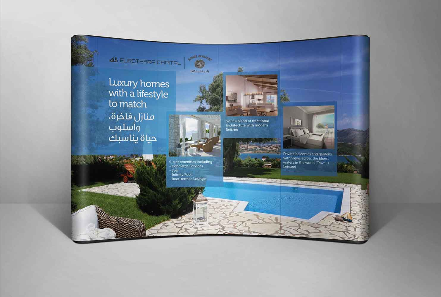 Euroterra Capital - Pop up wall design for euroterra capital at a sales event egypt