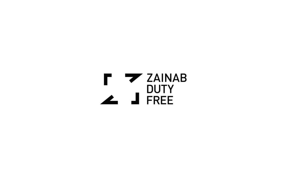 Image showing the new rebranded black logo identity for zainab duty free dubai